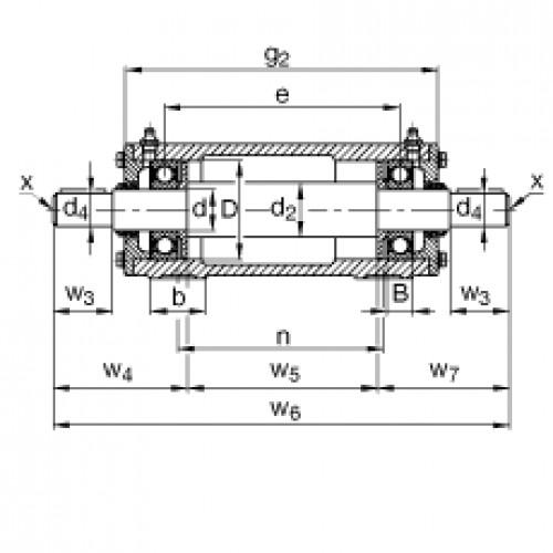Подшипниковый узел VRE306-F FAG