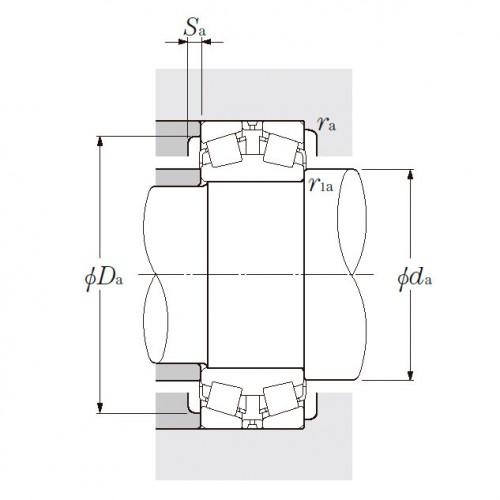 Роликовый двухрядный конический подшипник 323040E1 SNR-NTN