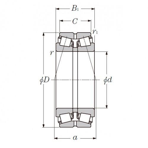 Роликовый двухрядный конический подшипник 4130/500 SNR-NTN